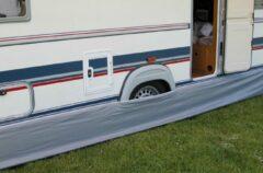 Grijze Eurotrail Caravan tochtstrook - 350x60cm