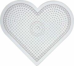 Creativ company Onderplaat, h: 15 cm, transparant, groot hart, 1stuk