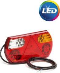 Transparante Merkloos / Sans marque Achterlicht rechts 32 LEDs 296x145x45 mm - inclusief reflecterende driehoek