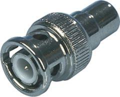 Grijze Kabeldirect Valueline BNC-202 kabeladapter |verloopstukje RCA Metallic
