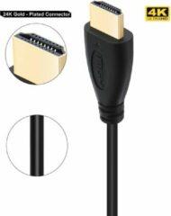DrPhone Hi-Speed® HDMI naar HDMI kabel - 4K ULTRA HD - 1 Meter - 1.4 - 2.0V Hoge Snelheid - Goud verguld - Zwart