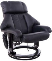 HOMCOM TV Sessel und Hocker mit Massage- und Heizfunktion Fernsehsessel Hocker Massagesessel Relaxsessel Wärme Massage Sessel