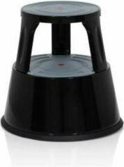 Hjh OFFICE Tio-M II - Werkstoel / werkkruk/ verhoogde bureaustoel - Zwart - Metaal, Kunststof