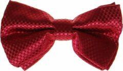 Bordeauxrode S.Y.W Vlinderstrik voor kinderen glimmend bordeaux geblokt