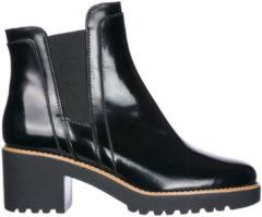 Nero Hogan Stivaletti stivali donna con tacco in pelle h277