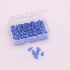 Blauwe Merkloos / Sans marque Polijst cup - polijstkop - Opschroefbare polijstkoppen voor Nr.1 Tandenpolijster - 100 stuks - disposable
