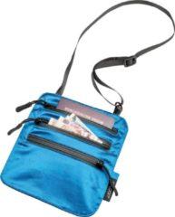 Cocoon - Secret Neck Wallet / Silk - Tasje voor waardevolle spullen maat 19 x 16 cm, blauw/zwart/grijs