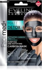 Eveline Cosmetics Facemed+ Matt Detox Purifying & Mattifying Carbon Mask 2x5ml.