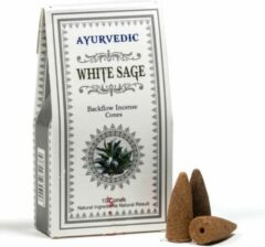 Bruine Ayurvedic - White Sage - wierook kegels