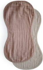 Naturelkleurige Mushie Muslin Burp Cloth Natural/Fog