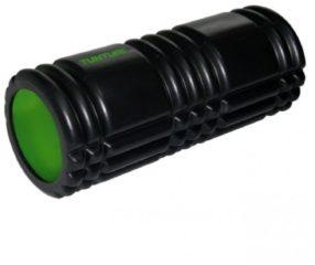 Groene Tunturi Yoga Grid Foam Roller - Foam roller the grid - Foamroller - Fitness Roller - 33cm - Zwart
