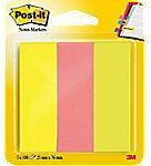 Post-it Indexen Kleurenassortiment Blanco Niet geperforeerd 25 x 76 mm 70 g/m² 3 Stuks à 100 Strips