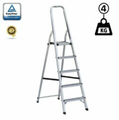 EasyStep Huishoudtrap Keukentrap - 5 Treden - Aluminium - Lichtgewicht - Anti-Slip