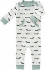 Fresk newborn baby pyjama Dachsy wit