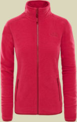 The North Face 100 Glacier Full Zip Women Damen Fleecejacke Größe L rumba red/cerise pink stripe
