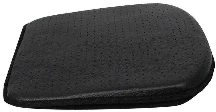 Afbeelding van Zwarte Carpoint Luxe zitkussen Leather Look zwart