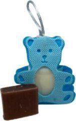 La Maison du Savon de  Marseille Cadeaupakketje zeepzakje beertje blauw met 2x 30 gram zeepjes karite en vanille