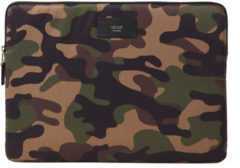 Donkergroene Wouf Laptophoes met camouflageprint 13 inch