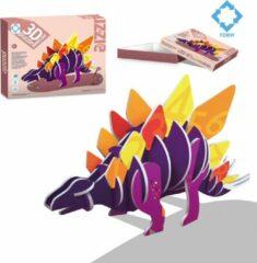 FDBW Puzzel 3d voor kinderen | Puzzel Dinosaurus - Stegosaurus | 3D puzzel kinderen | Puzzel zelf maken | Puzzel Kinderen 3 jaar