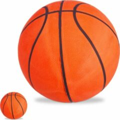 Relaxdays 2x basketbal maat 7 - straatbal - binnen en buiten - trainen - oranje