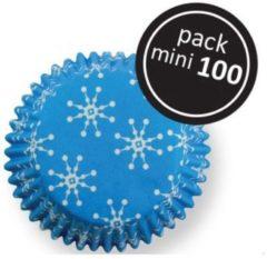 Blauwe PME Legend PME cupcake cups sneeuwvlokken (frozen) mini 100 stuks