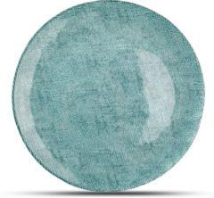 Blauwe Salt&pepper S&P Dinerbord 28cm Blauw/Groen Glas Fabric