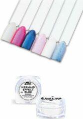 Blauwe IBP Mix & Mingle Nail Art mermaid effect blue 5gr