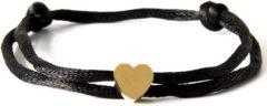 Caviar Collection Armband / Enkelbandje Neon Black X Heart Gold