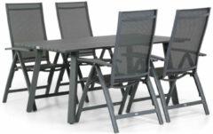 Antraciet-grijze Presto Donato/Villagio 170 cm dining tuinset 5-delig