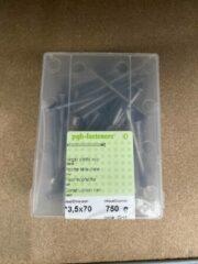 Pgb fasteners Nagel platte kop 3,5 x 70 mm 750 gram