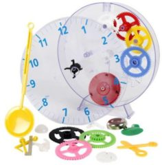 Rode Technoline Techno Line Model Kids Clock Wandklok Bouwpakket Mechanisch 20 Cm X 3.5 Cm Transparant