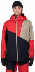Picture - Alpin Jacket - Ski-jas maat S, rood/blauw/wit