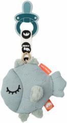 Blauwe Done by Deer Cozy Puffee Blue speen knuffel 12 cm
