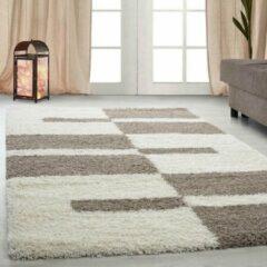 Gala Hoogpolig Vloerkleed - Cali - Rechthoek - Beige - 240 x 340 cm - Vintage, Patchwork, Scandinavisch & meer stijlen vind je op WoonQ.nl