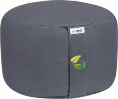 Grijze Ecoyogi Meditatiekussen rond Stone - hoog (18-20cm)