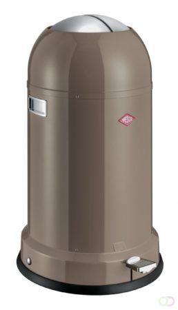 Afbeelding van Grijze Prullenbak Kickmaster Classic Line - Warm Grijs - Soft-close - 33 Liter - Wesco