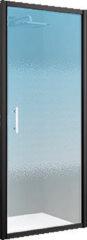 Douchedeur Draaibaar Novellini Zephyros G Helder Glas 86x195 cm Mat Zwart Profiel