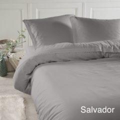 Papillon Salvador dekbedovertrek - 100% katoen - 2-persoons (200x200/220 cm + 2 slopen) - 2 stuks (60x70 cm) - Grijs