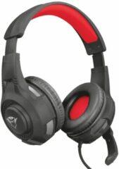 Trust GXT307 Ravu Headset 3.5 mm jackplug Stereo, Kabelgebonden Over Ear Rood/zwart
