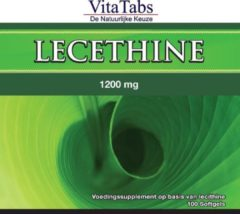 Vitalabs VitaTabs Lecithine 1200 mg - 100 softgels - Voedingssupplementen