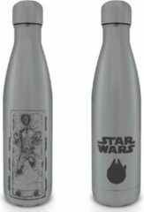 Grijze Hole In The Wall Star Wars Han Solo Carbonite Metal Drinkfles