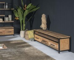 Livingfurn TV meubel Montreal 160 cm industrieel teak met staal