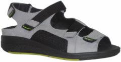 Licht-grijze Durea Go dames sandaal 7380-218 Grijs/zwart 7657 - Wijdte H - Maat 7