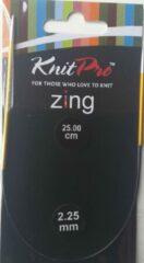 Oranje Knitpro Zing Ronbreinaald 2.25mm en 25.00cm (Let op zeer kleine naalden voor sokken)