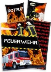 Herdings young collection Renforce-Kinder-Bettwäsche, 2-tlg., Feuerwehr, 80x80/135x200 cm