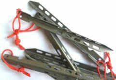 Haringboer 16cm TC4 titanium V-haringen - Tentharingen inclusief haringzak