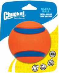 Chuckit Ultra Ball - Hondenspeelgoed - 9 cm Oranje Blauw Xl