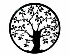 Antraciet-grijze Dit Pracht - muurdecoratie - levensboom - antraciet/zwart - doorsnee 50cm