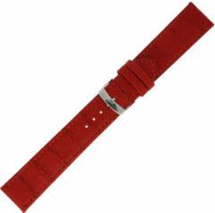 Morelatto Horlogebandje Juke Alligator Rood 16mm