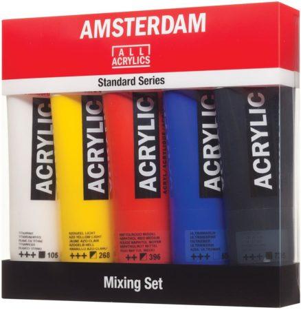 Afbeelding van Amsterdam Acrylverf Tube Van 120 Ml, Doos Met 5 Tubes In Niet-primaire Kleuren